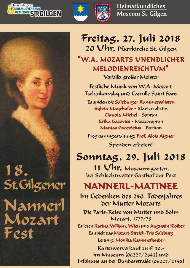 Heimatkundliches Museum St. Gilgen Nannerlfest 2018